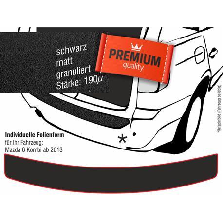 Lackschutzfolie Ladekantenschutz für Mazda 6 Kombi ab 2/2013 (schwarz)