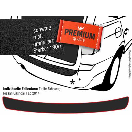 Lackschutzfolie Ladekantenschutz für Nissan Qashqai ab 2/2014 (schwarz)