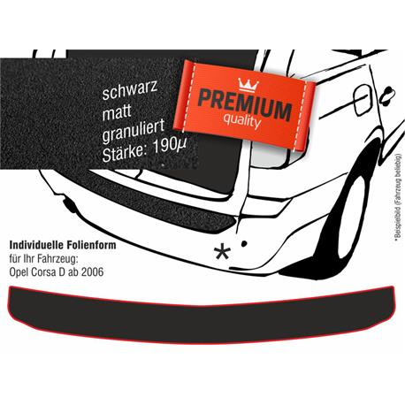 Lackschutzfolie Ladekantenschutz für Opel Corsa D ab 10/2006-11/2014 (schwarz)