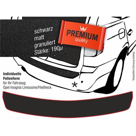 Lackschutzfolie Ladekantenschutz für Opel Insignia Limousine/Fließheck ab 2008 (schwarz)