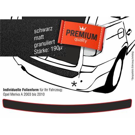 Lackschutzfolie Ladekantenschutz für Opel Meriva 2003-4/2010 (schwarz)