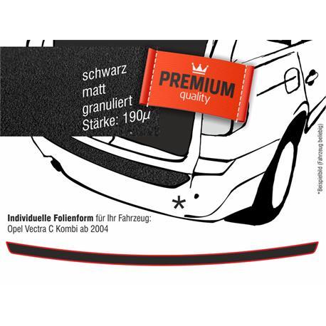 Lackschutzfolie Ladekantenschutz für Opel Vectra C Kombi ab 11/2004 (schwarz)