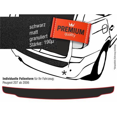 Lackschutzfolie Ladekantenschutz für Peugeot 207 ab 2006 (schwarz)