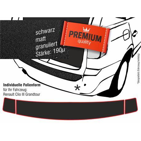 Lackschutzfolie Ladekantenschutz für Renault Clio 3 Grandtour Kombi ab 2008 (schwarz)