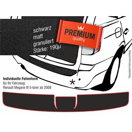 Lackschutzfolie Ladekantenschutz für Renault Megane III 5-türer ab 11/2008 (schwarz)