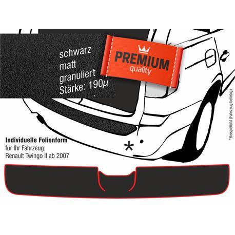 Lackschutzfolie Ladekantenschutz für Renault Twingo II ab 9/2007-8/2014 (schwarz)