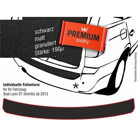 Lackschutzfolie Ladekantenschutz für Seat Leon ST Kombi ab 2013 (schwarz)