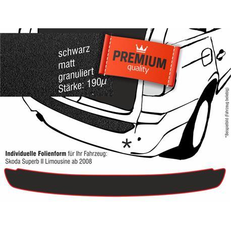 Lackschutzfolie Ladekantenschutz für Skoda Superb 2 Lim. ab 2008 (schwarz)