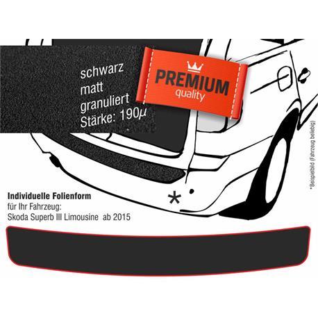 Lackschutzfolie Ladekantenschutz für Skoda Superb III Limousine ab 6/2015 (schwarz)