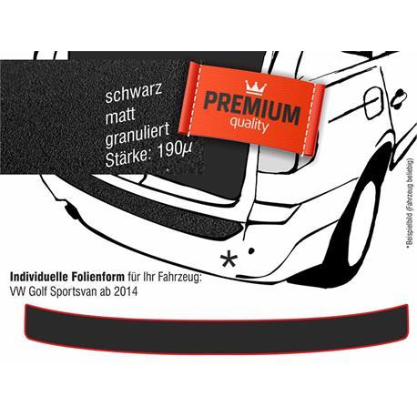 Lackschutzfolie Ladekantenschutz für VW Golf Sportsvan ab 2014 (schwarz)