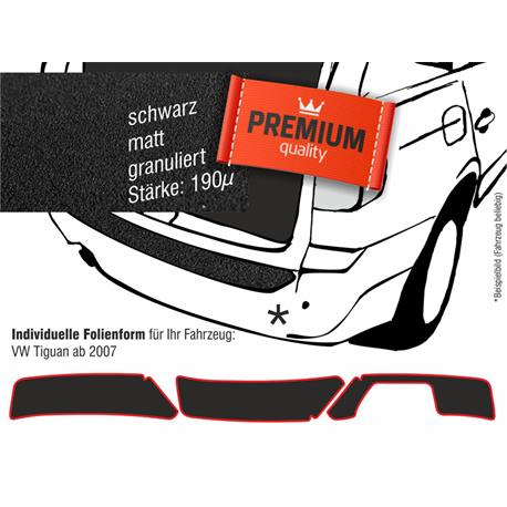 Lackschutzfolie Ladekantenschutz für VW Tiguan ab 2007 (schwarz)