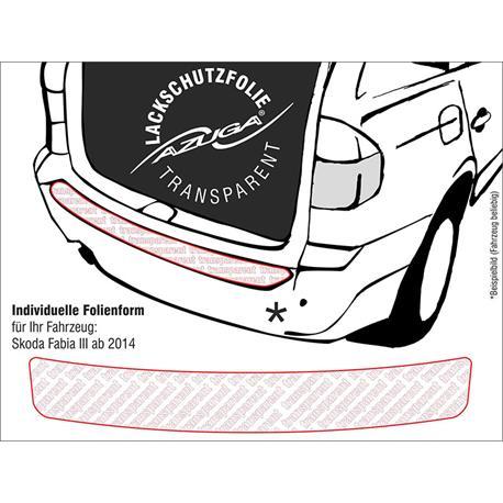 Lackschutzfolie Ladekantenschutz für Skoda Fabia III ab 11/2014 (farblos)
