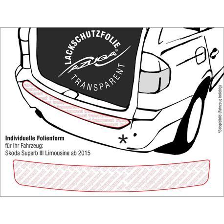 Lackschutzfolie Ladekantenschutz für Skoda Superb III Limousine ab 6/2015 (farblos)