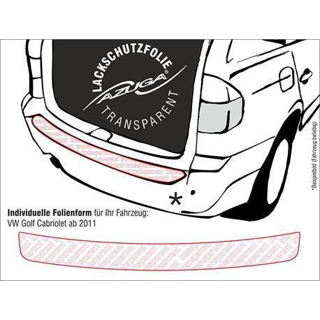 Lackschutzfolie Ladekantenschutz für VW Golf Cabrio ab 6/2011 (farblos)