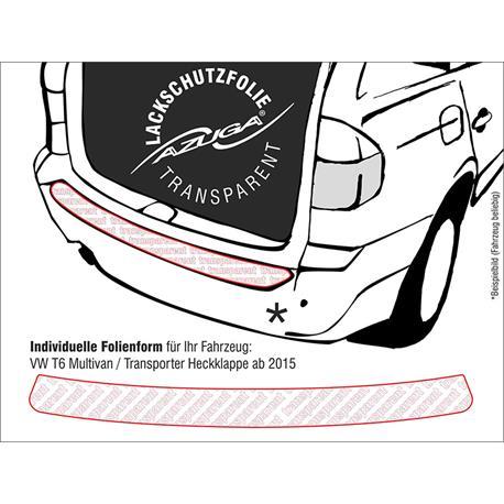 Lackschutzfolie Ladekantenschutz für VW T6 Multivan/Caravelle/Transporter ab 6/2015 (farblos)