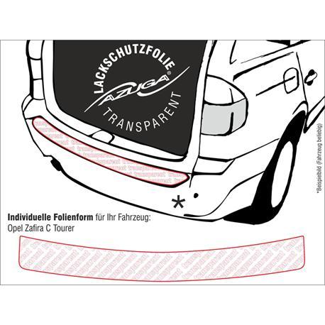 Lackschutzfolie Ladekantenschutz für Opel Zafira Tourer ab 2012 (farblos)