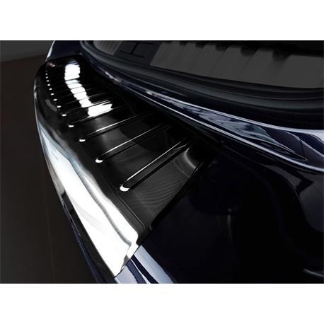 Ladekantenschutz Edelstahl für Peugeot 508 SW ab 6/2019 (schwarz)