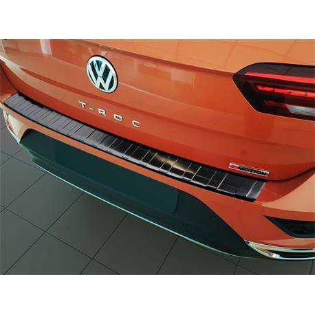 Ladekantenschutz Edelstahl für VW T-Roc ab 2017 (schwarz)