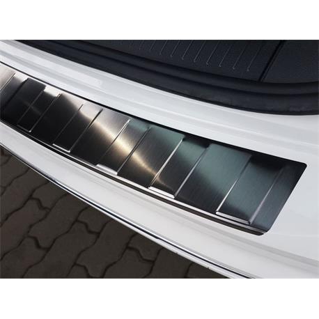 Ladekantenschutz Edelstahl für VW Tiguan ab 2016/VW Tiguan Allspace ab 2017 (schwarz)