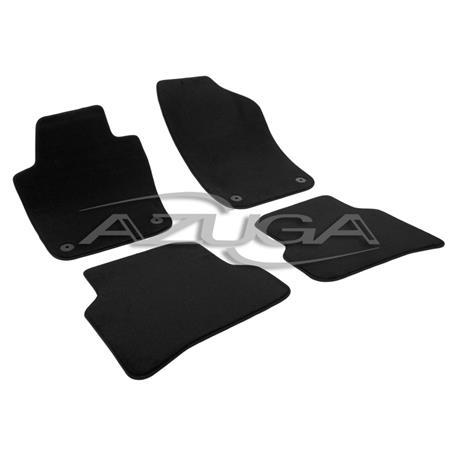 Auto Fußmatten Velours für Skoda Fabia III ab 2014