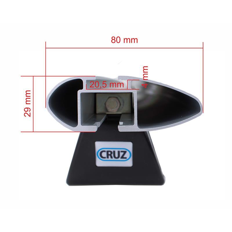 Dachträger CRUZ Airo Dark R133 Relingträger