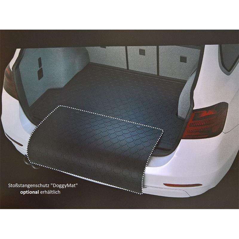 Kofferraummatte Gummi für VW Polo ab 6/2009 mit Basis-Ladeboden