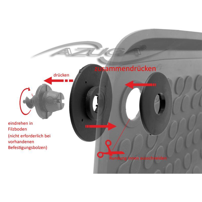 Hohe Gummi-Fußmatten für Audi Q3 ab 2011-10/2018 4-tlg.