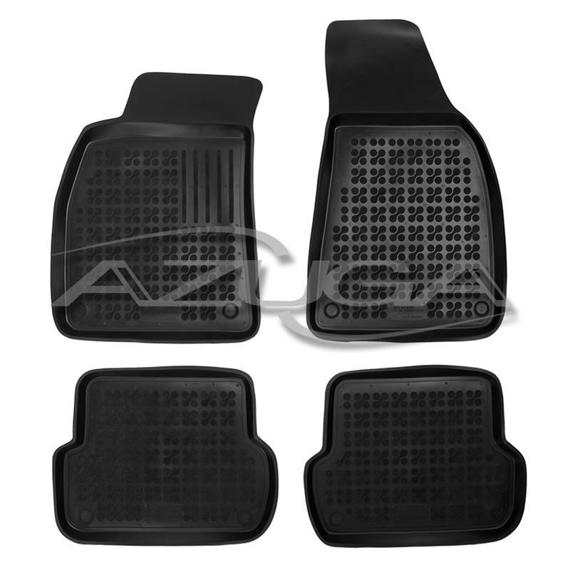 Hohe Gummi-Fußmatten für Audi A4 2001-2007 (B6/B7 bzw. 8E) 4-tlg.