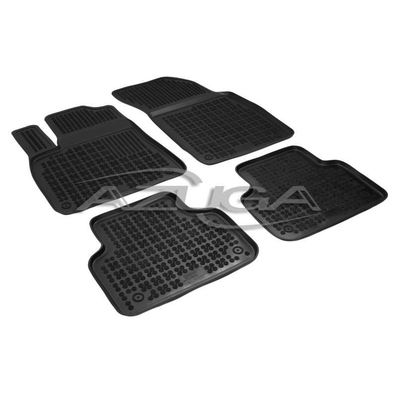 Hohe Gummi-Fußmatten für Audi Q7 ab 6/2015 (4M)/Audi Q8 ab 2018