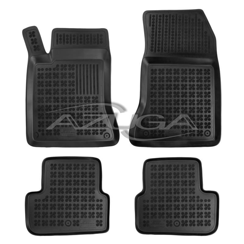 Für FORD Fiesta V Gummi Fußmatten Hohe 3D Gummimatten Automatten 4Tlg