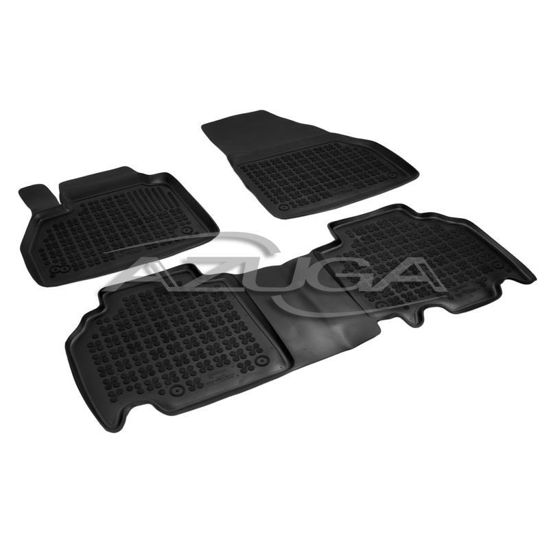 Fußmatten für Renault Kangoo ab 2008 Gummi Schwarz Antirutsch Vorne Automatten