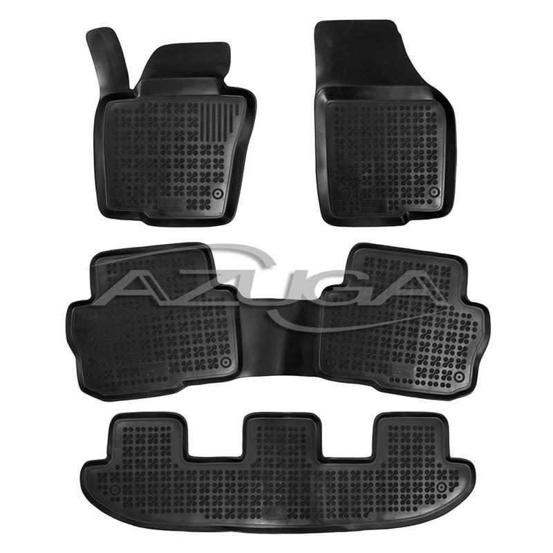 hohe gummi fu matten f r seat alhambra vw sharan ab 9 2010. Black Bedroom Furniture Sets. Home Design Ideas