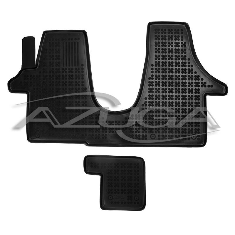 hohe gummi fu matten f r vw t5 t6 transporter multivan. Black Bedroom Furniture Sets. Home Design Ideas