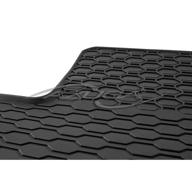 Gummi-Fußmatten für Ford Focus II ab 2004 (Befestigung oval/Knebel)