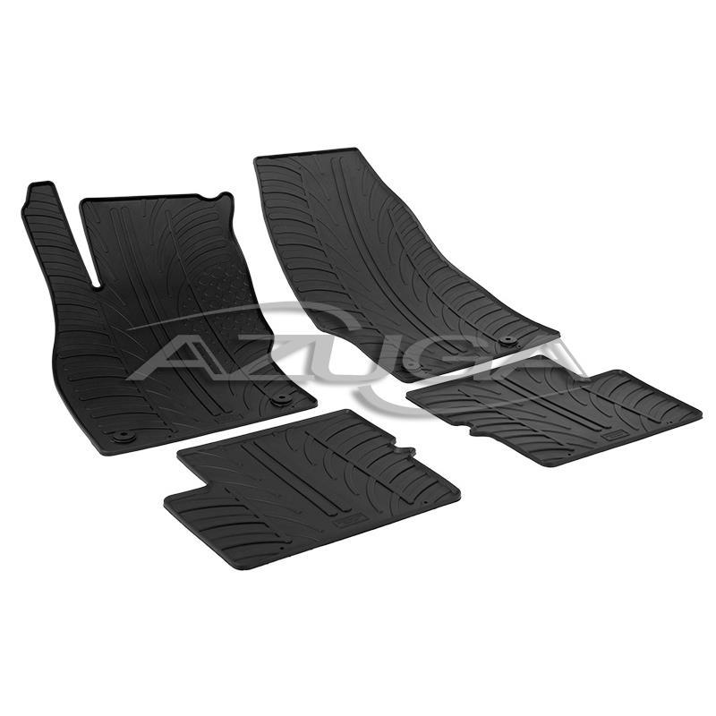 MERCEDES W204 C-Klasse Stufenheck 2007-2014 Gummi-Fußmatten+Kofferraummatte