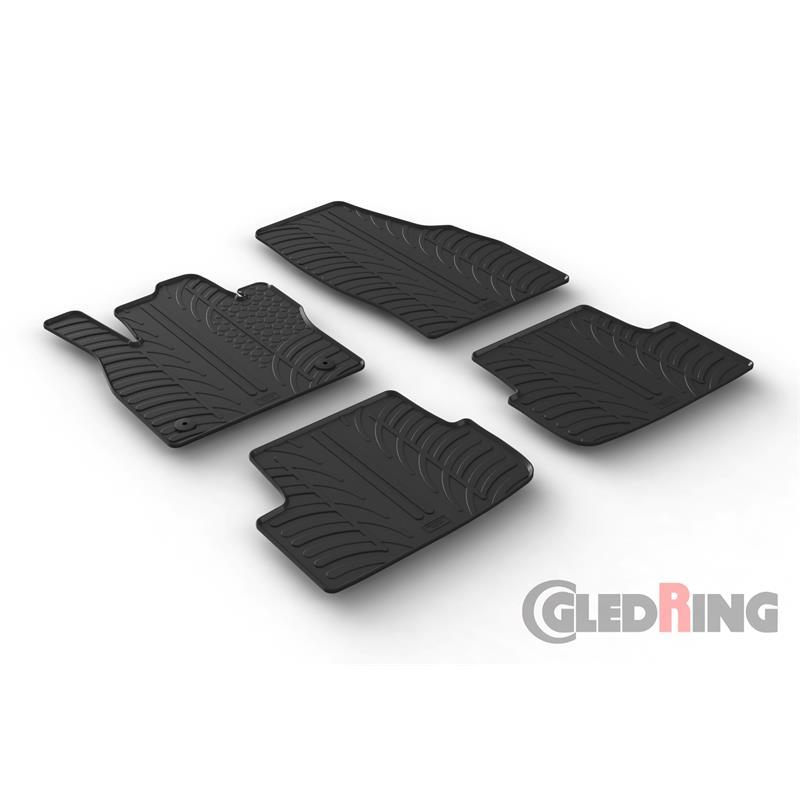 gummi fu matten f r seat arona seat ibiza 6f ab 6 2017. Black Bedroom Furniture Sets. Home Design Ideas