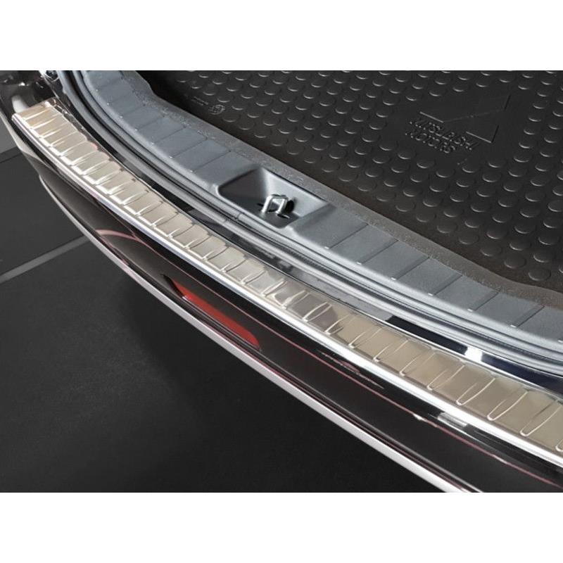 1 x Ladeschutzkante Ladekantenschutz Chrome aus Edelstahl mit Abkantung f/ür Trax 100/% Edelstahl