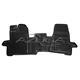 Hohe Gummi-Fußmatten passend für Ford Transit Custom ab 10/2012/Tourneo Custom ab 10/2012-2017 (3-Sitzer)