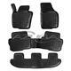 Hohe Gummi-Fußmatten passend für Seat Alhambra/VW Sharan ab 9/2010 (3 Reihen)