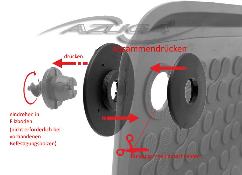 3D Gummi-Fußmatten für Hyundai Tucson ab 7/2015 Hohe Gummimatten Automatten