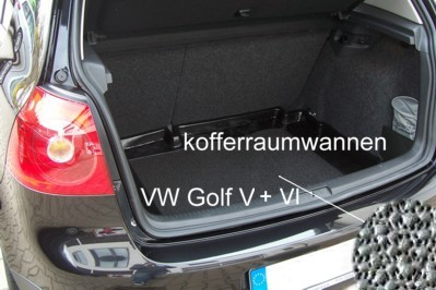kofferraumwanne f r vw golf 6 vi notrad oder pannenset ebay. Black Bedroom Furniture Sets. Home Design Ideas