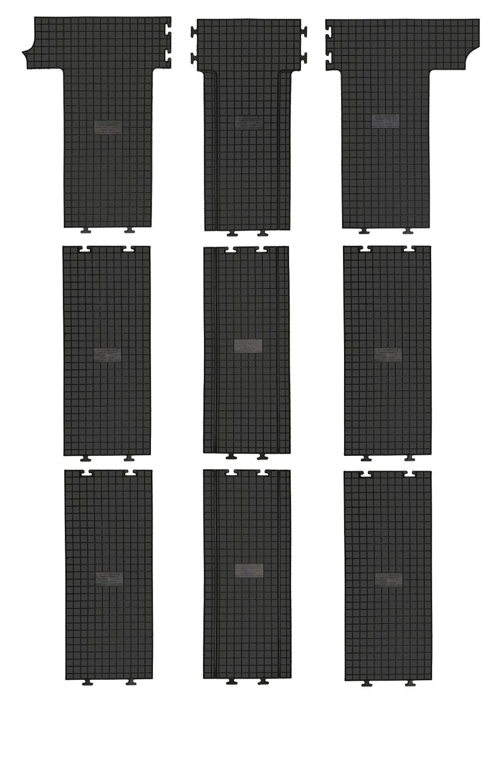 2015 MP Gummimatten Gummifußmatten Komplettauslage für VW T6 Multivan ab Bj