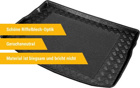 AZUGA Kofferraumwanne aus Polyethylen