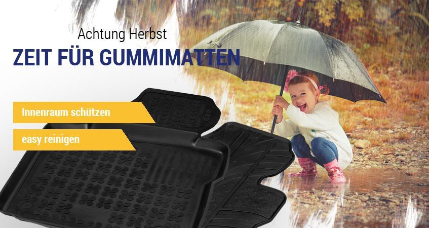 Herbst - Zeit für Gummi-Fußmatten