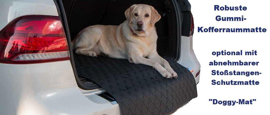 Kofferraummatte mit Ladekantenschutz